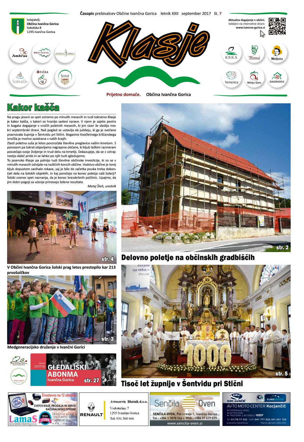 Klasje september 2017 by Newsroom Slovenia - issuu