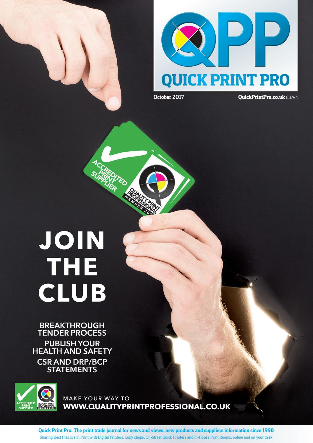 quick print pro october 2017 by the magazine production company issuu