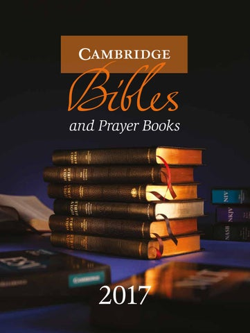 Bibles Catalogue And Prayer Books 2017 By Cambridge University Press