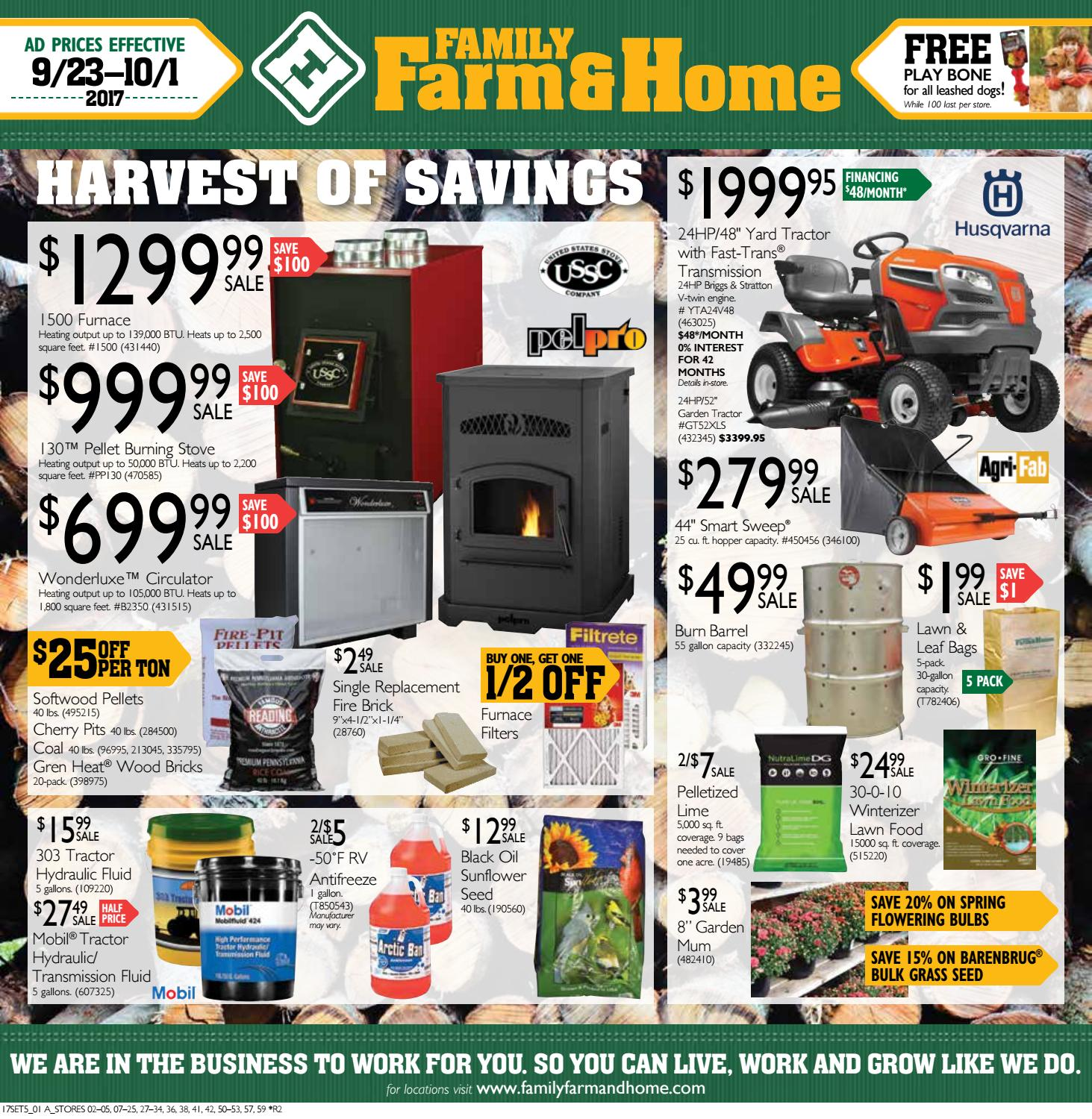 Family Farm & Home SET5 Ad (Effective September 23-October 1