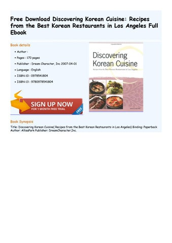discovering korean cuisine recipes from the best korean restaurants in los angeles