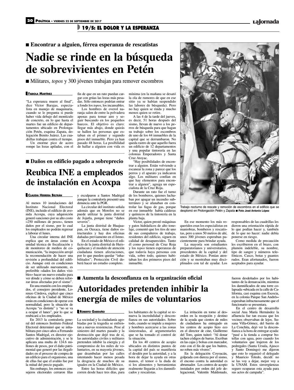 La Jornada 09 22 2017 By La Jornada Issuu