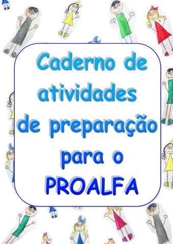 Caderno De Atividades De Preparacao Para O Proalfa 2017 By