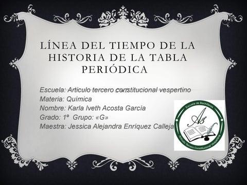 Linea del tiempo de la tabla peridica by androi01 issuu lnea del tiempo de la historia de la tabla periodica urtaz Images