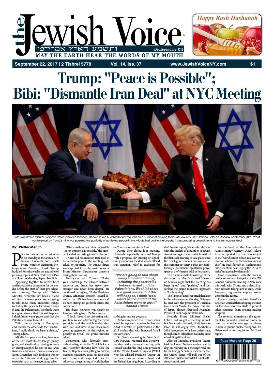 40c999052b5c The Jewish Voice   SEPTEMBER 22, 2017 by Mike Kurov - issuu