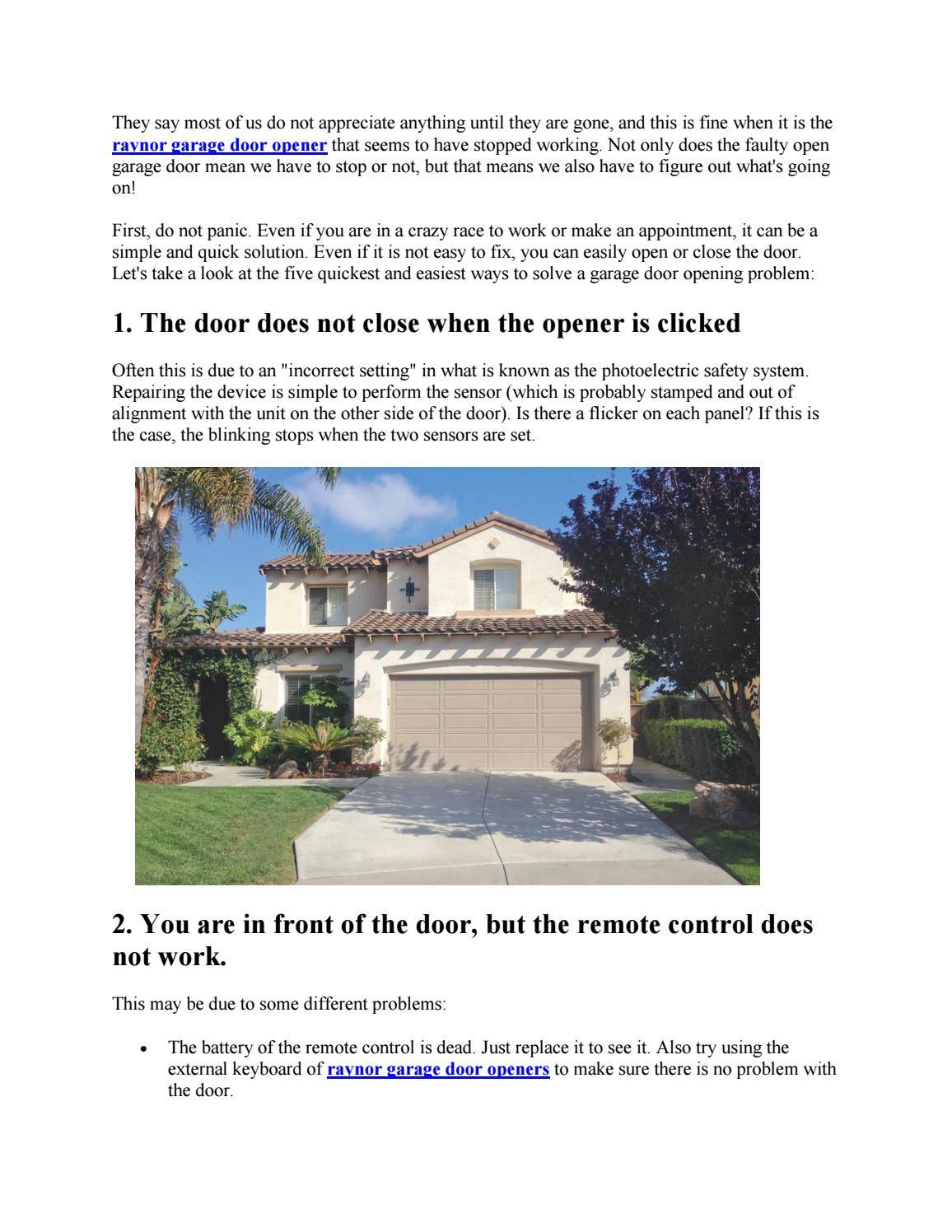 Methods For Troubleshooting A Garage Door Opener By Automatic Door