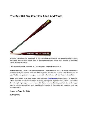 Best bat size chart by cobra golf bags - issuu