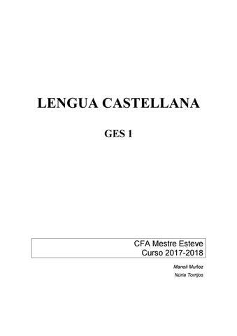 Castellano I Y Ii Ges1 2017 2018 By Centre De Formació Dadults