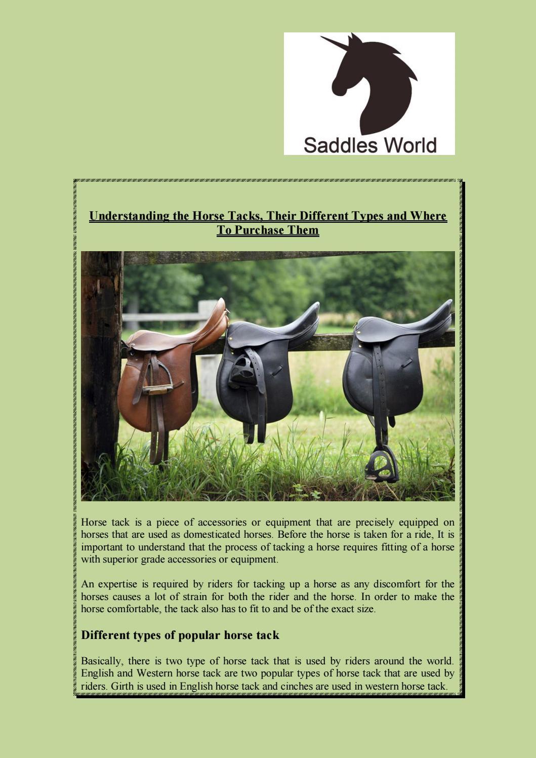 equine tack shop by saddles world - issuu