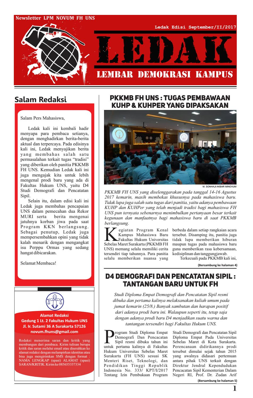 LEDAK Edisi September/II/2017 by LPM NOVUM FH UNS - issuu