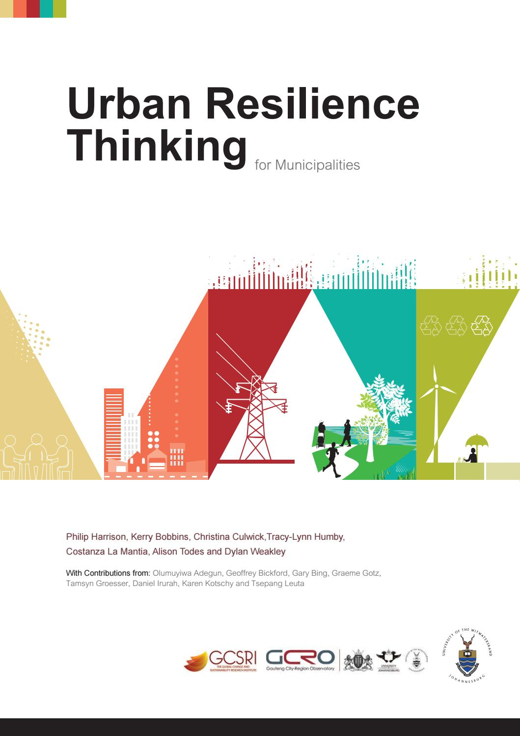 Urban Resilience Thinking for Municipalities by South