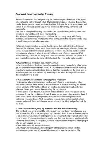 rehearsal dinner invitation wording by derek page issuu