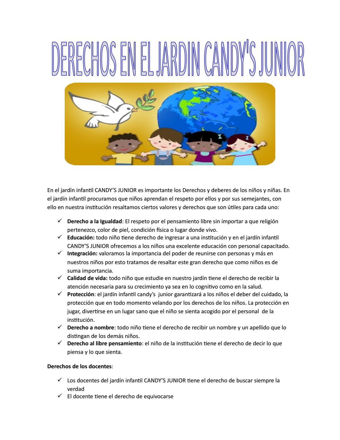 Jardín infantil candy\'s junior derechos y deberes by LAURA ...