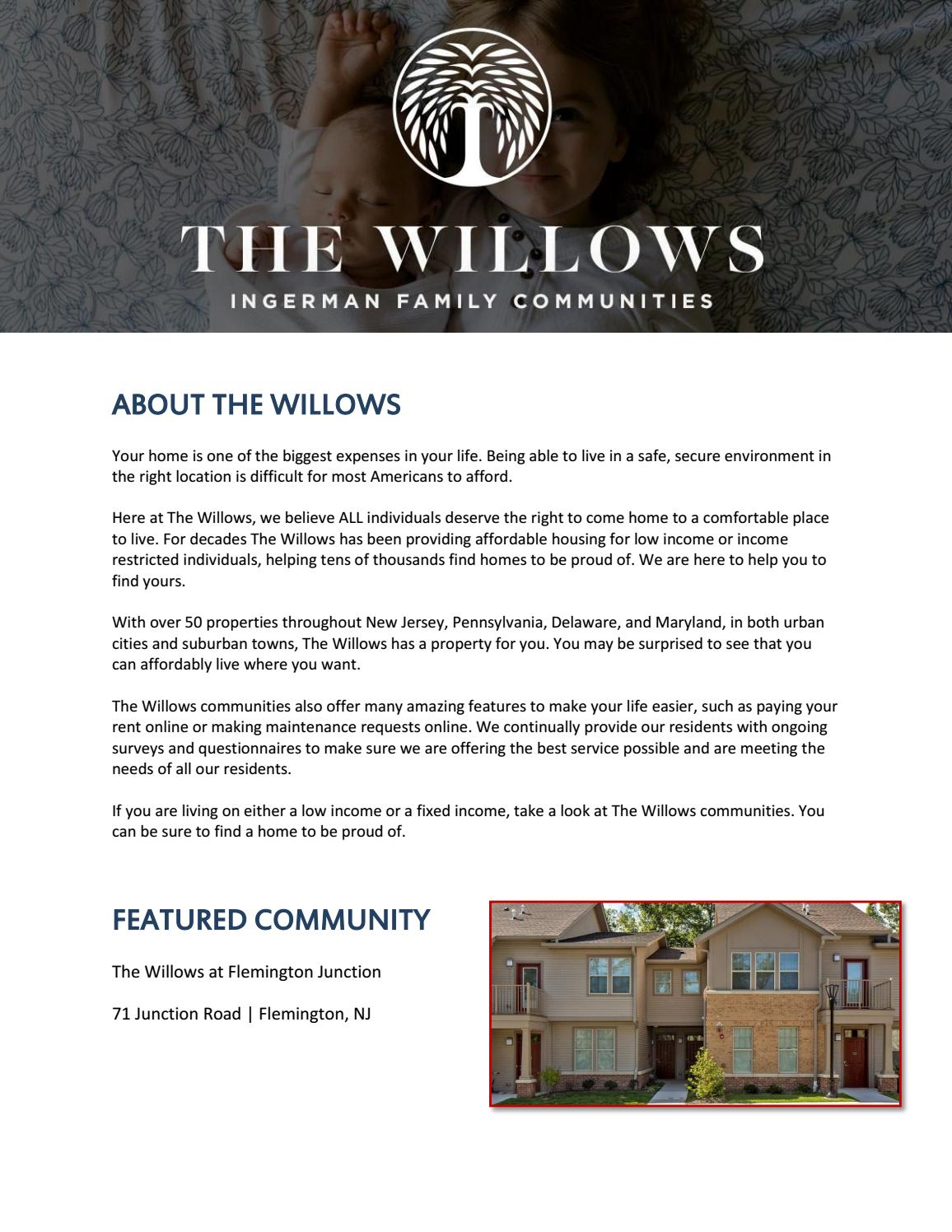 The Willows - Offers Affordable Housing by thewillows - issuu