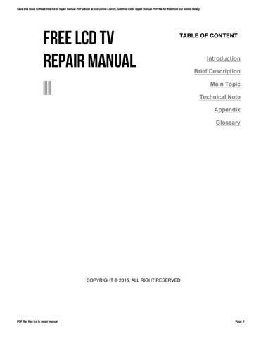 repair manual samsung ws28m64ns8xxeu color television