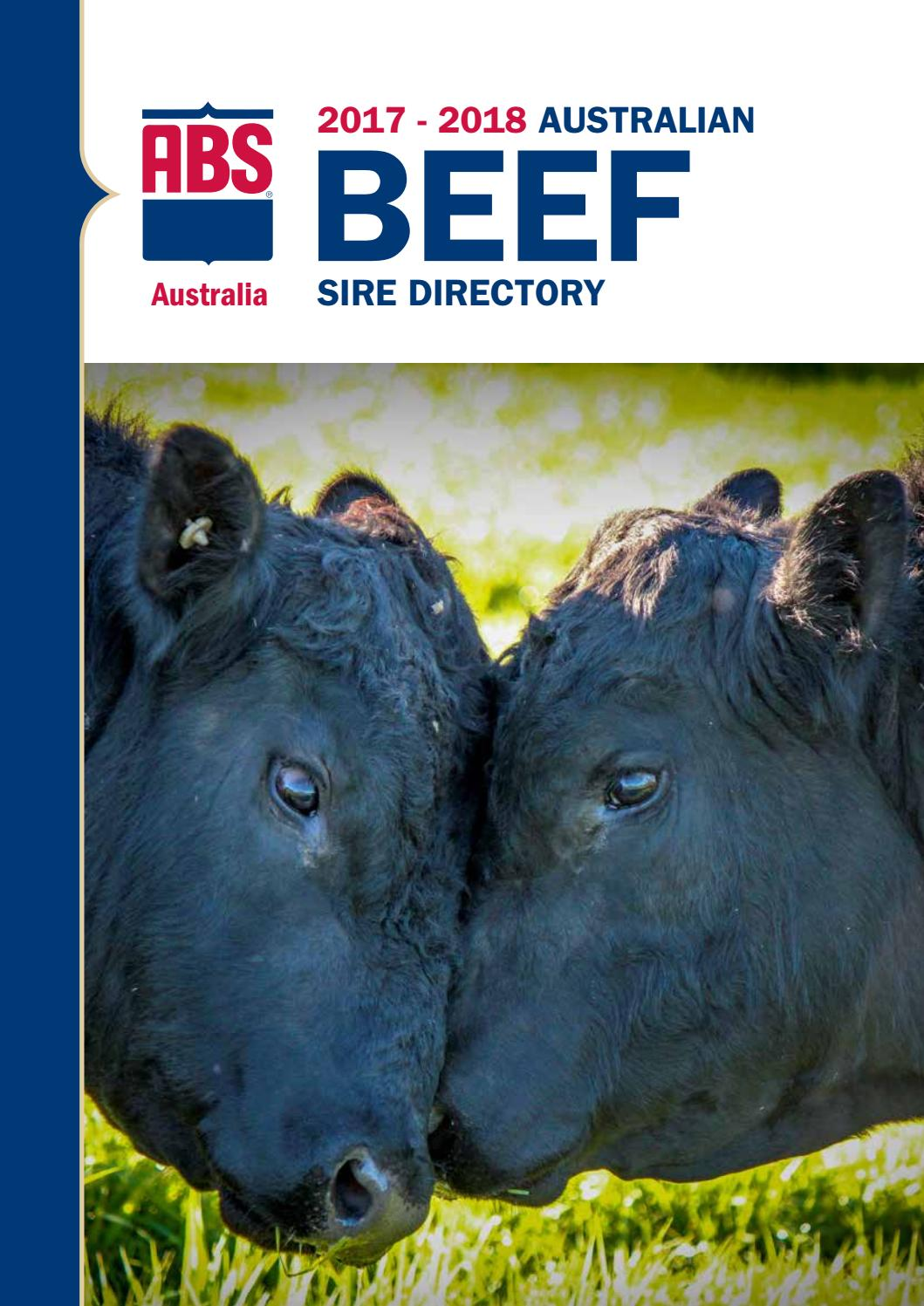 Abs Australia 2017 18 Beef Sire Directory By Abs Global