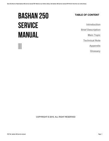 bashan 250 service manual by conniemorgan1907 issuu rh issuu com Bashan 250 Enduro Bashan 250 BS250 Gy-31