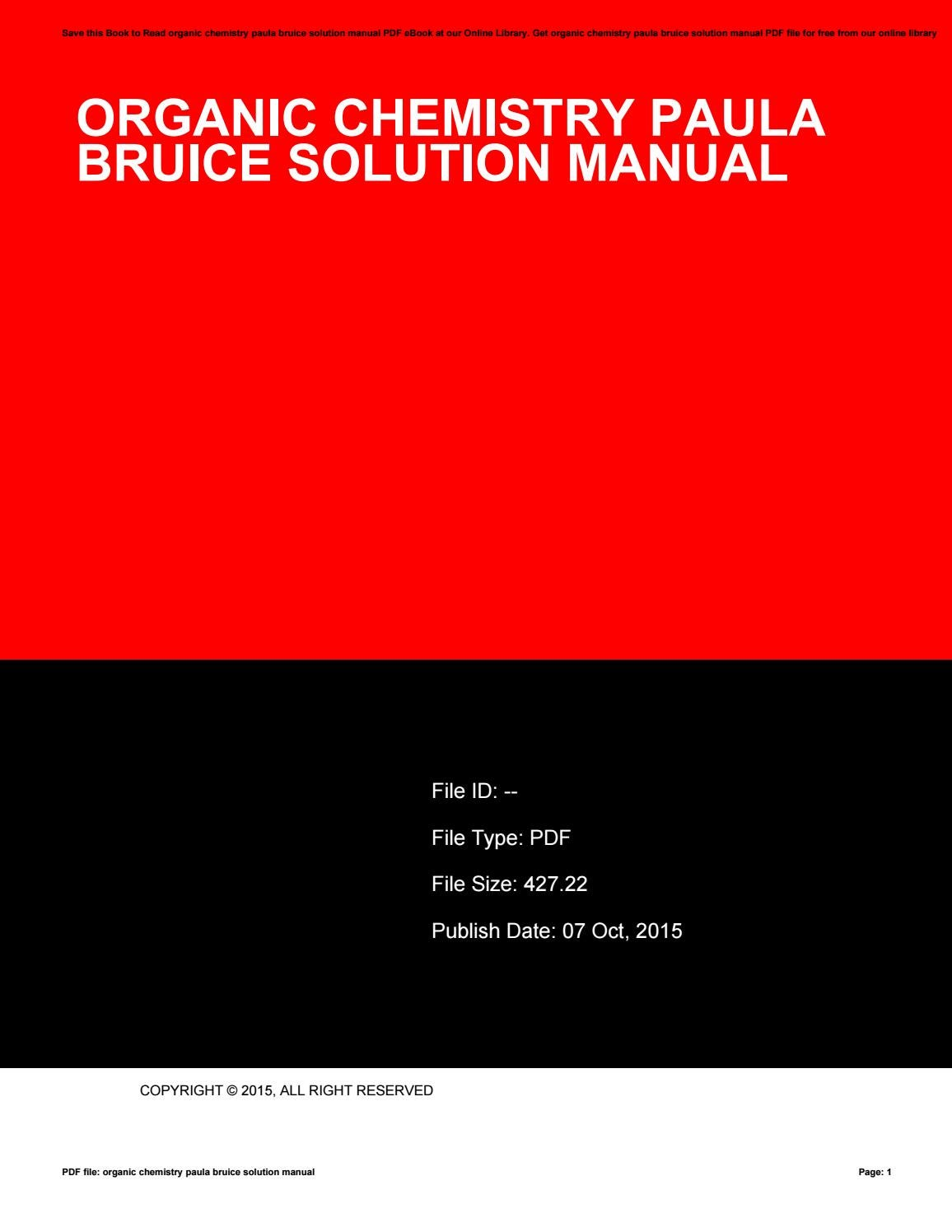 Organic Chemistry Paula Bruice Solution Manual By Ileanaraymond3971