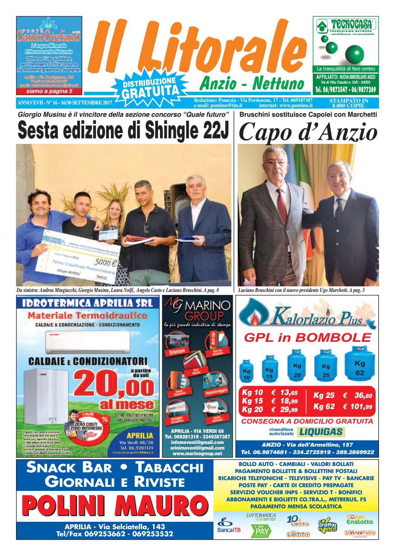 Il Litorale - Anno XVII - N. 16 - 16 30 Settembre 2017 by Il Pontino Il  Litorale - issuu 8797c063be5