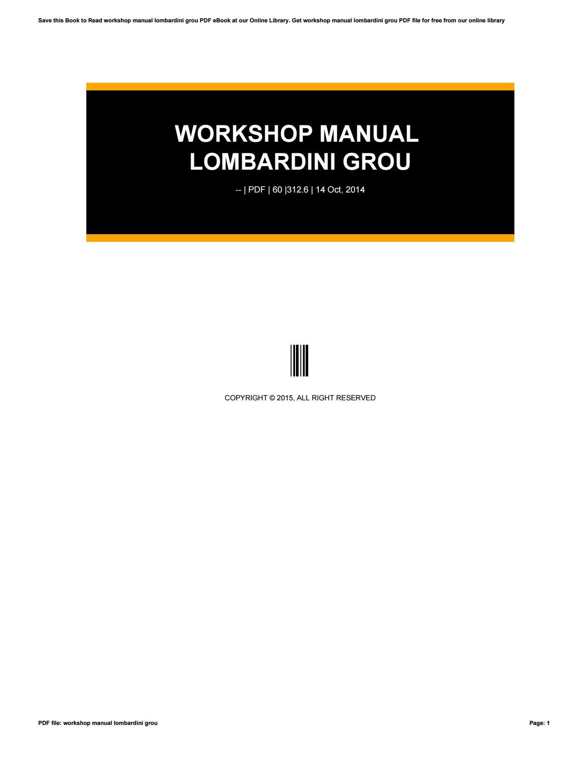 lombardini diesel engine Array - workshop manual lombardini grou by  virginiacowan3163 issuu rh issuu ...