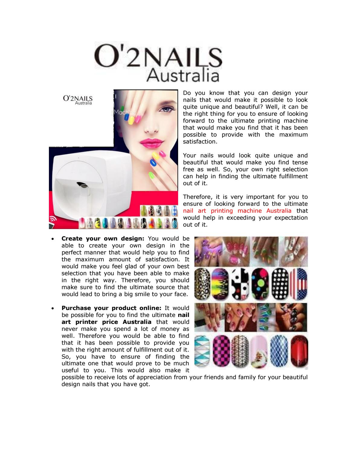 Take Good Steps to Ensure of Finding the Perfect Nail Art Printing ...