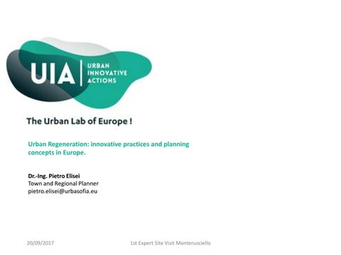 Urban Regeneration: innovative practices and planning