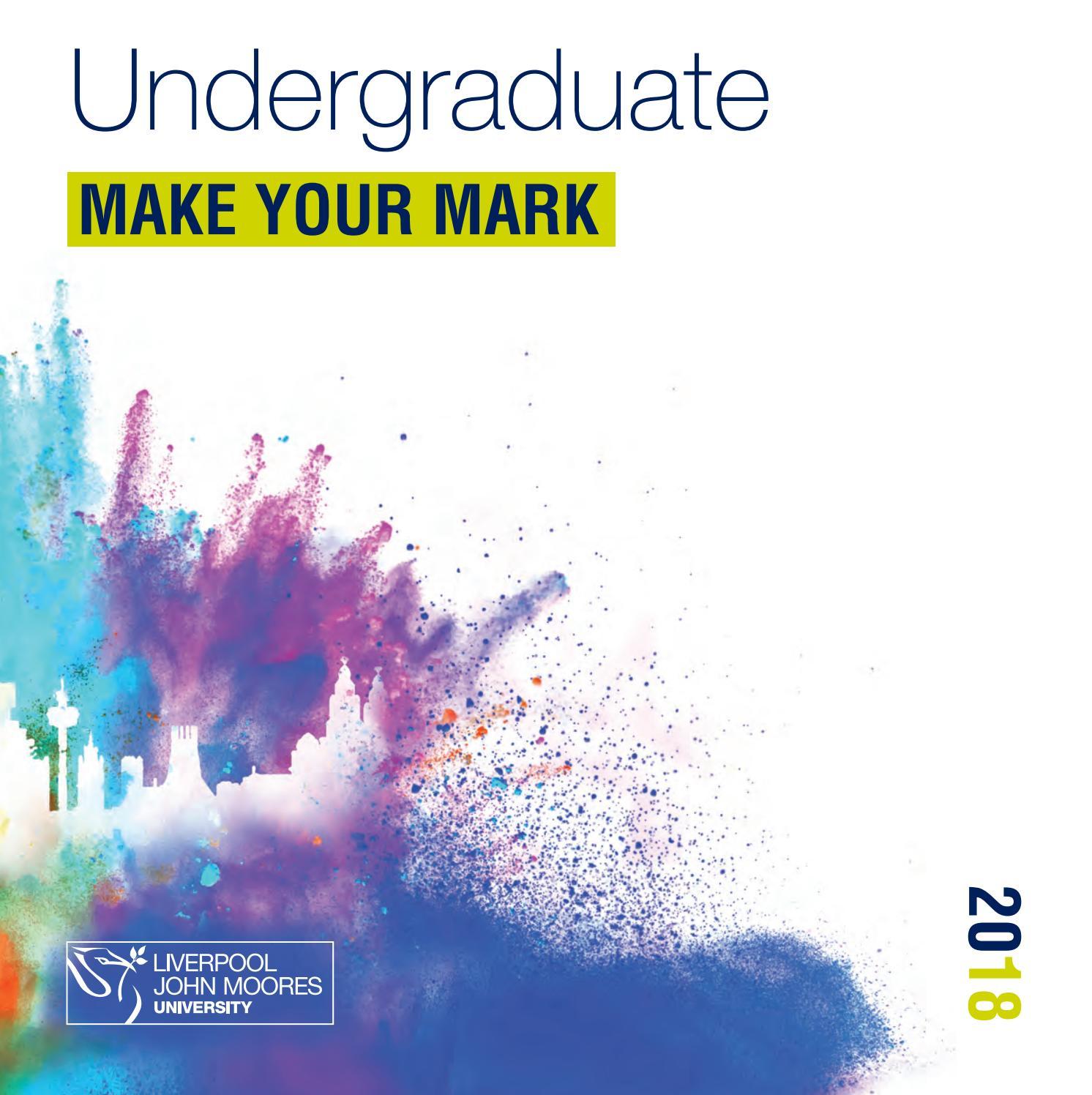 Undergraduate 2018 prospectus for Liverpool John Moores