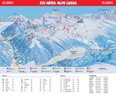Ski Map Alpe Lusia Bellamonte Dolomiti Superski by Lusia issuu