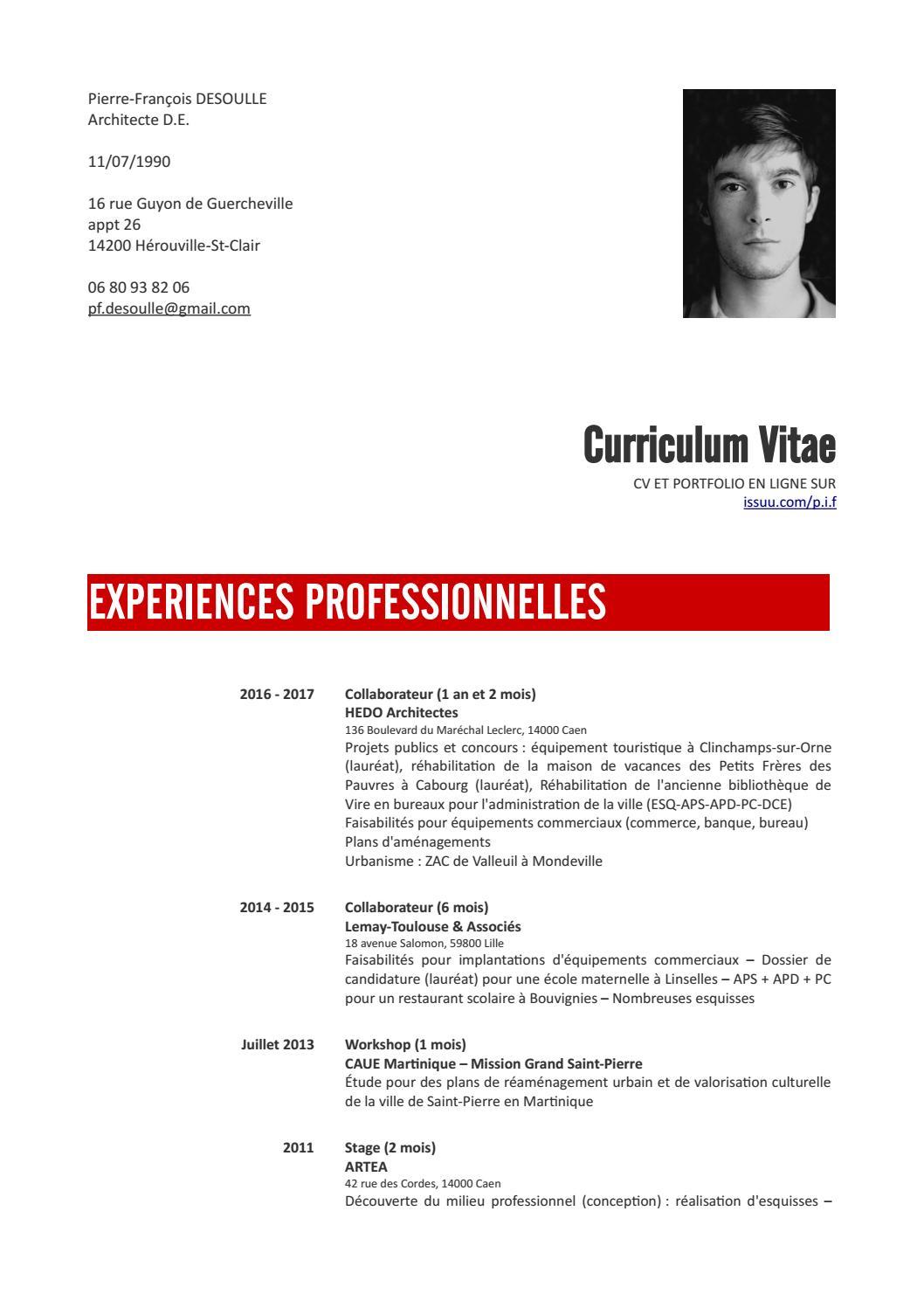 cv 2017 by pierre-fran u00e7ois desoulle