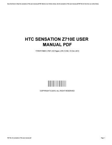 Htc Sensation Z710e User Manual Pdf