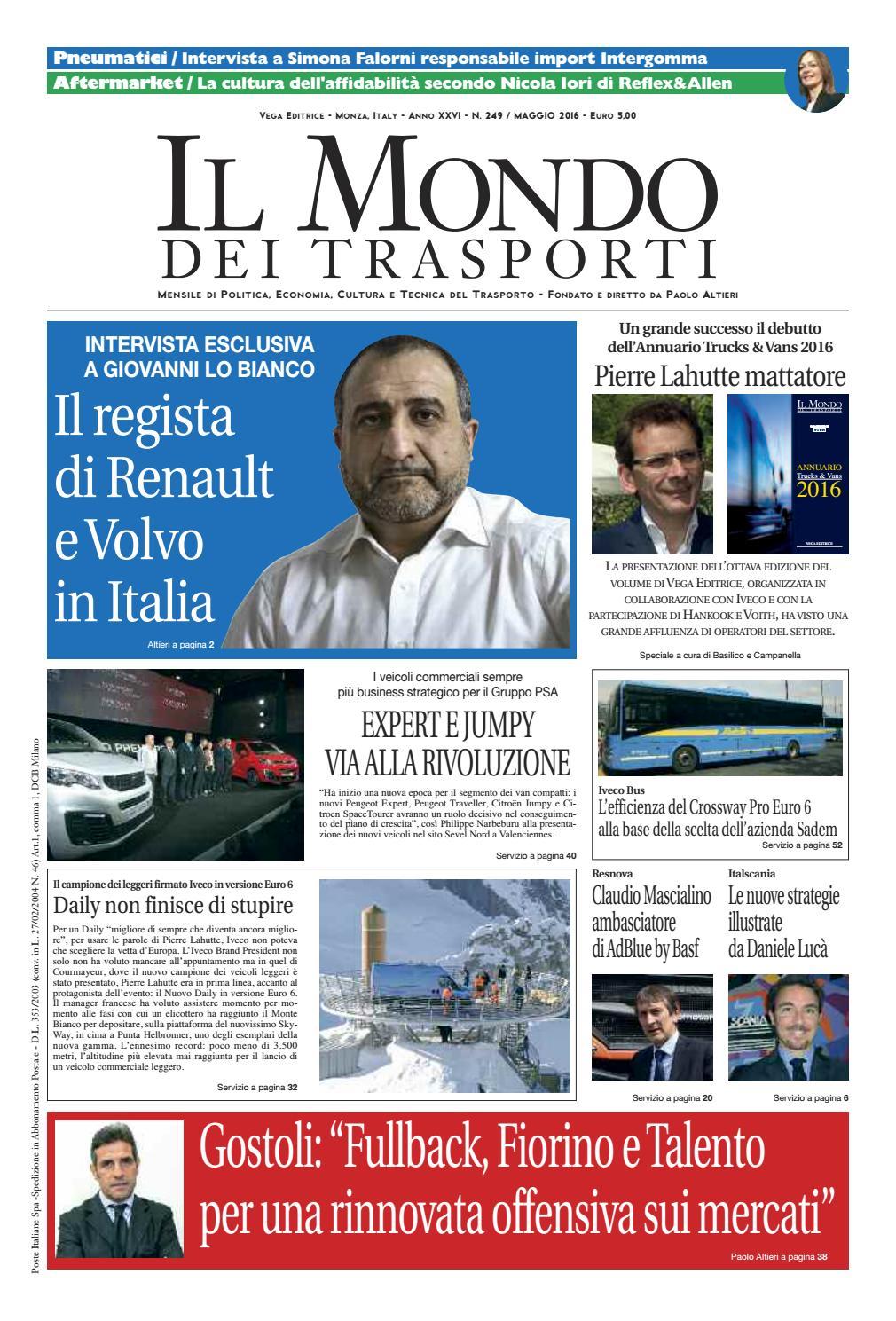 Il Mondo dei Trasporti - Maggio 2016 by Vega Editrice - issuu fc35edaa60f16