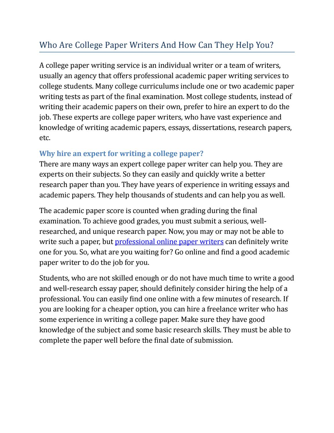 college paper writers by vanan paper writing issuu