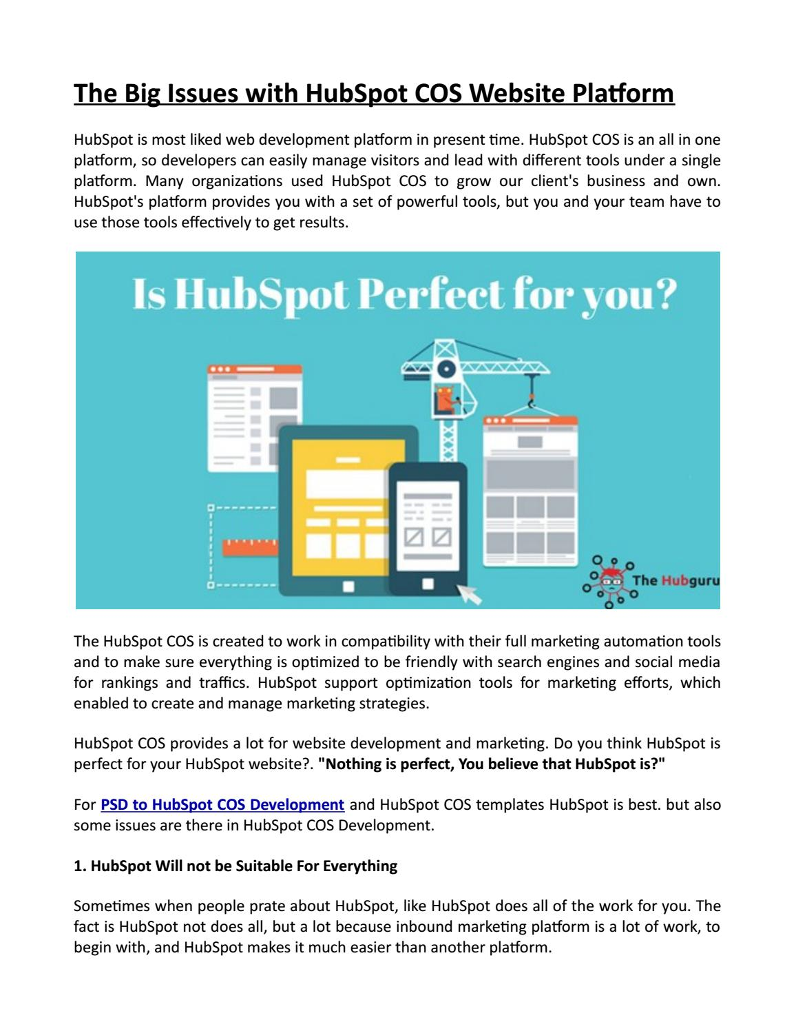 The big issues with hubspot cos website platform by The Hub Guru - issuu