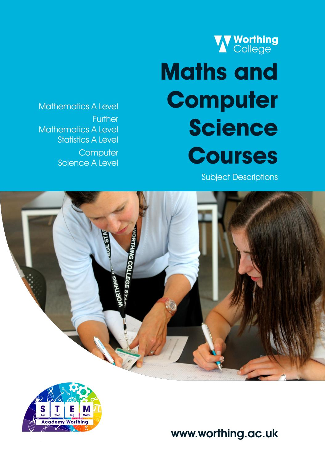 Maths and Computer Courses by Worthing College - issuu