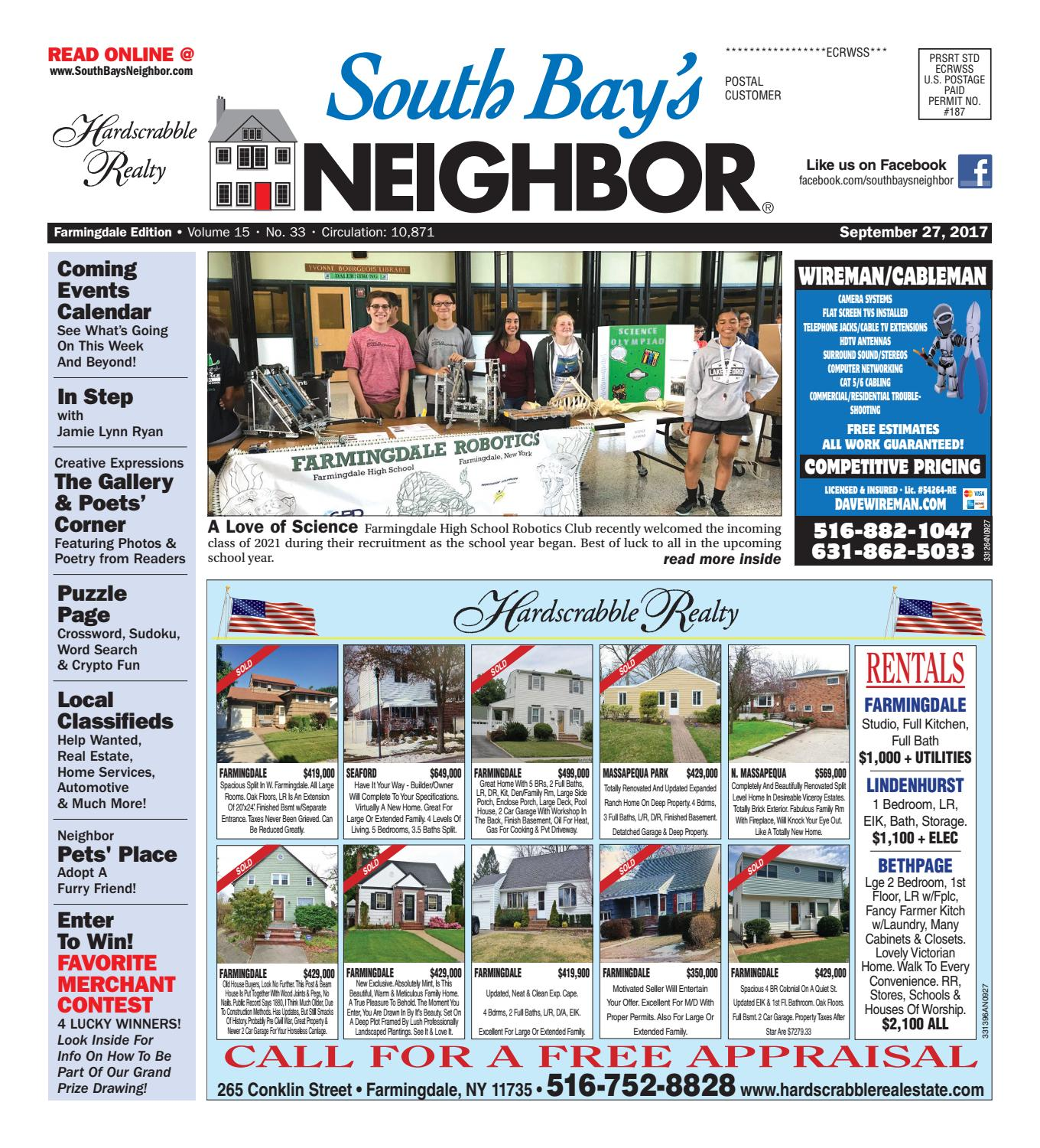 september 27th, 2017 farmingdale by south bay's neighbor newspapers
