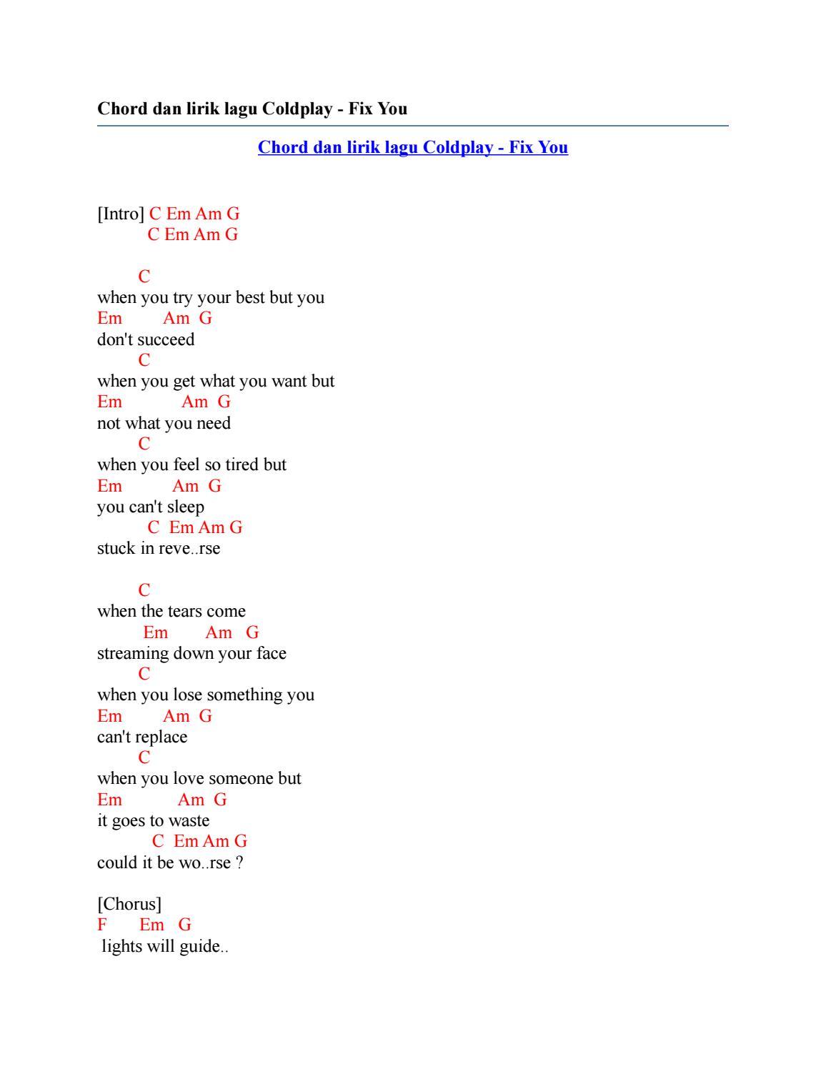 Coldplay: Lyrics: Viva La Vida