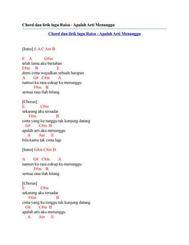Apalah Arti Menunggu Lirik