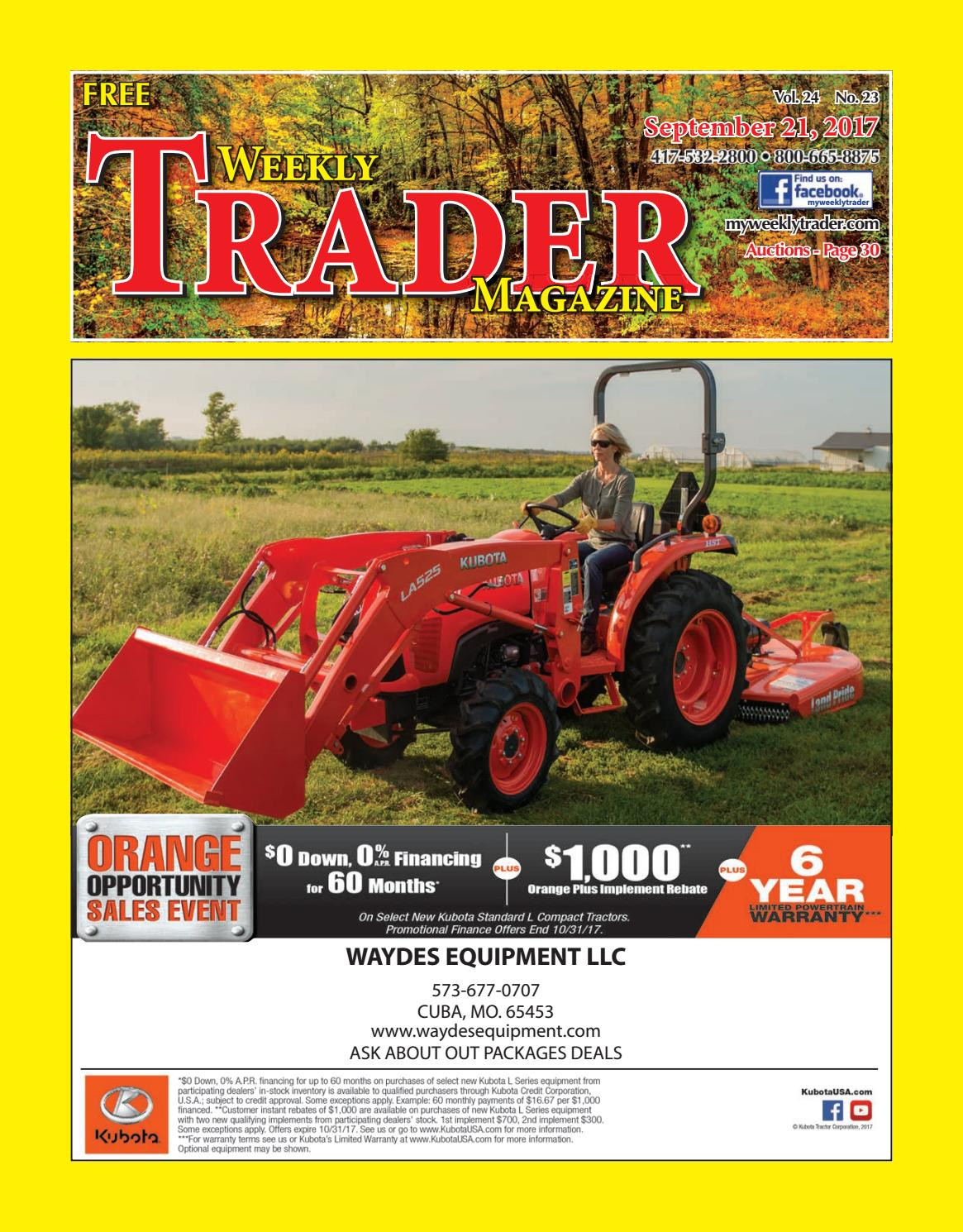 Weekly Trader September 21, 2017 by Weekly Trader - issuu