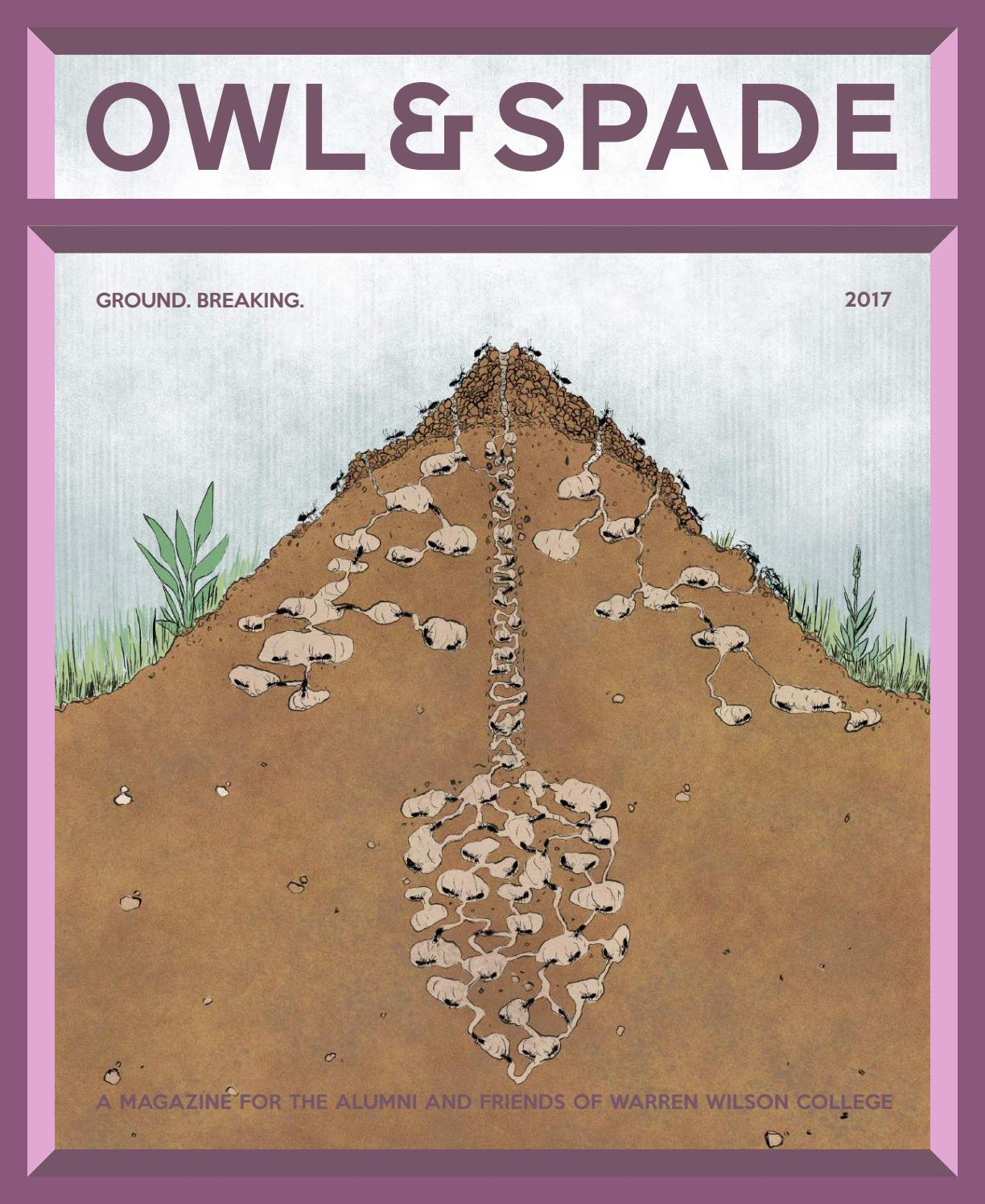 2017 Owl Spade By Warren Wilson College Issuu