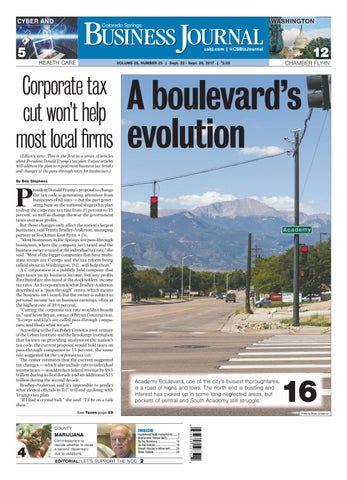 Colorado springs business journal september 15 2017 by colorado colorado springs business journal september 22 2017 malvernweather Image collections
