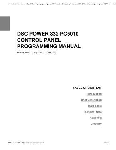 dsc 832 programming manual ebook