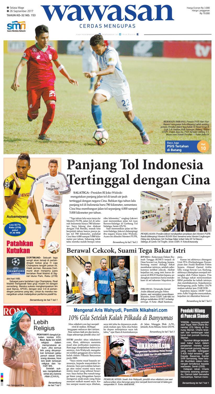 Wawasan 26 September 2017 By Koran Pagi Issuu Produk Ukm Bumn Batik Parang Kembang