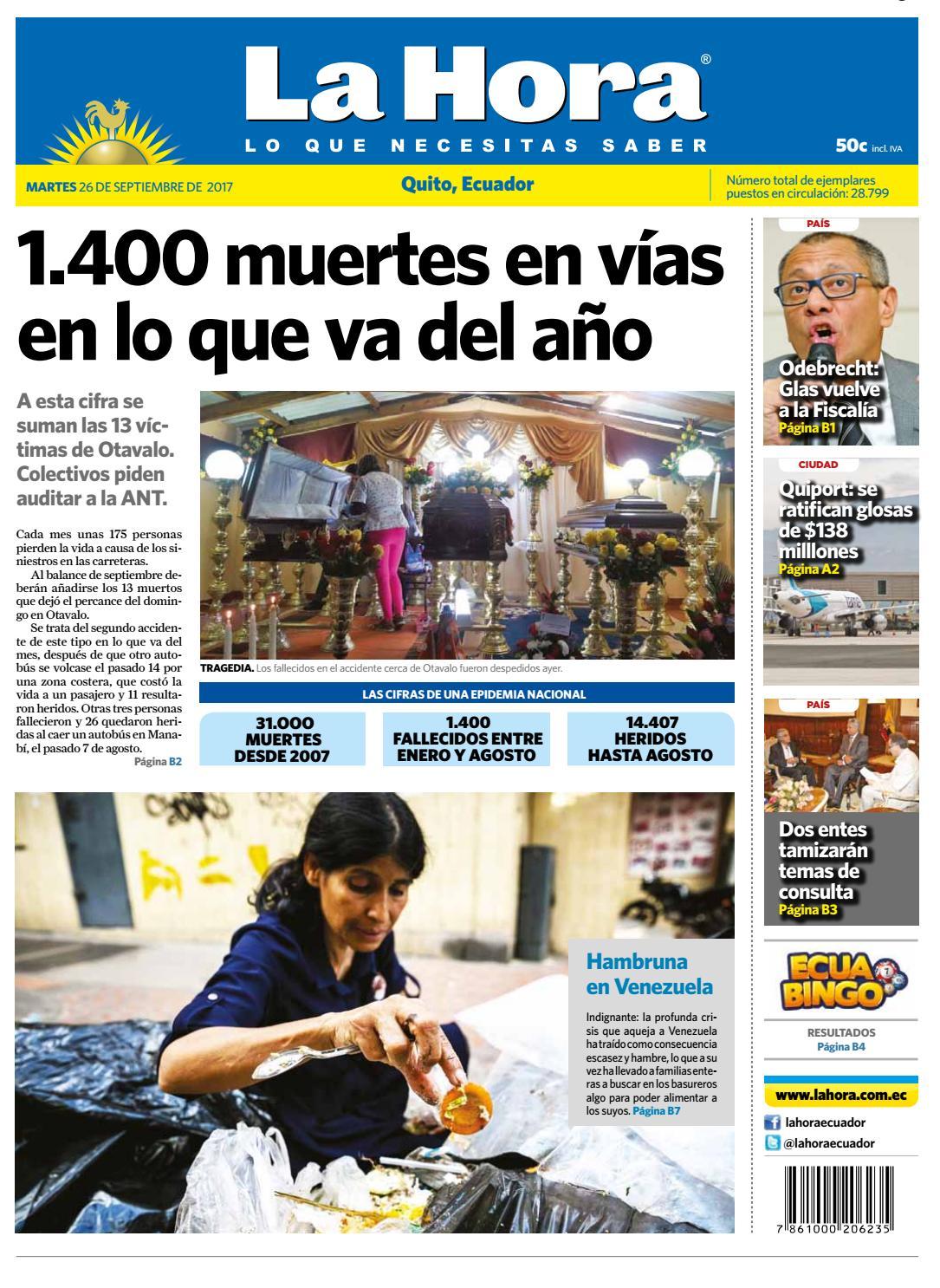 Anastasia Acosta Cero En Conducta quito 26 de septiembre de 2017diario la hora ecuador - issuu