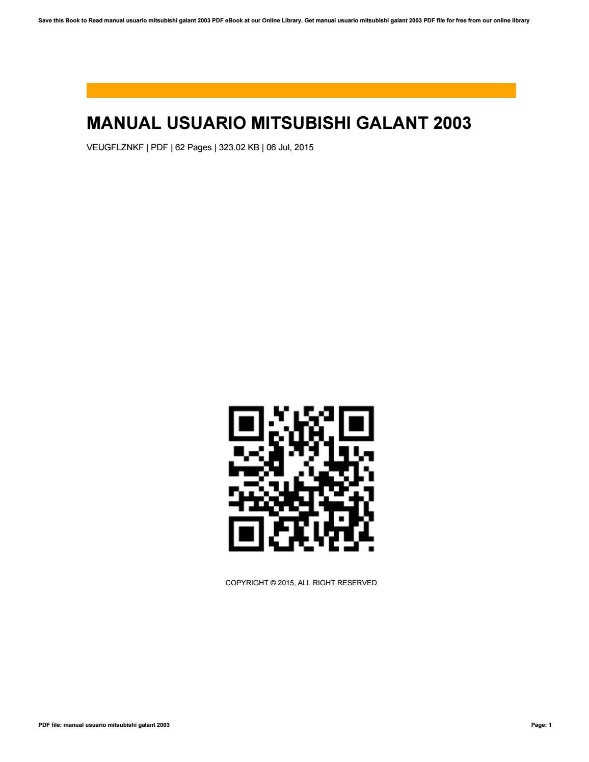 Manual usuario mitsubishi galant 2003 by fatikah71rahmah issuu fandeluxe Gallery