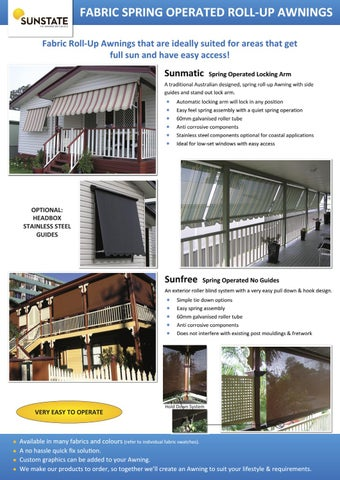 Sunstate Fabric Spring Operated Awnings by meta4 - issuu