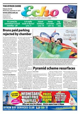 Byron Shire Echo Issue 32 16 27 09 2017 By Echo Publications Issuu