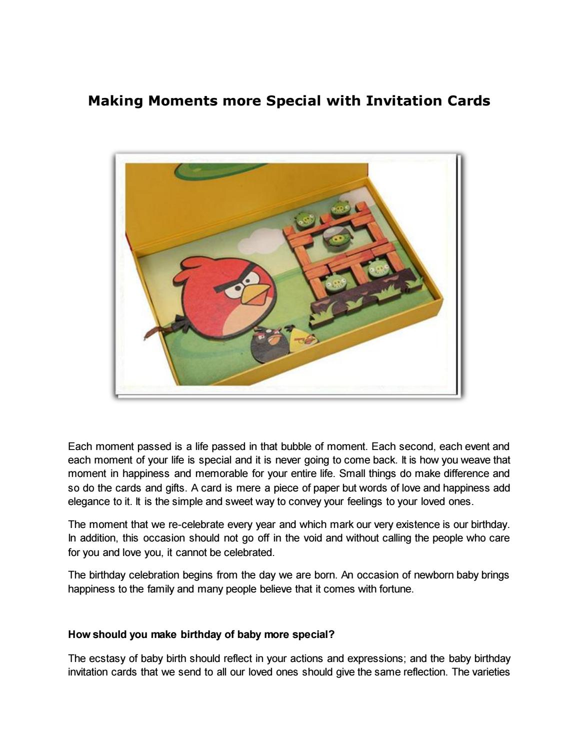 Making Moments More Special With Invitation Cards By Deepika