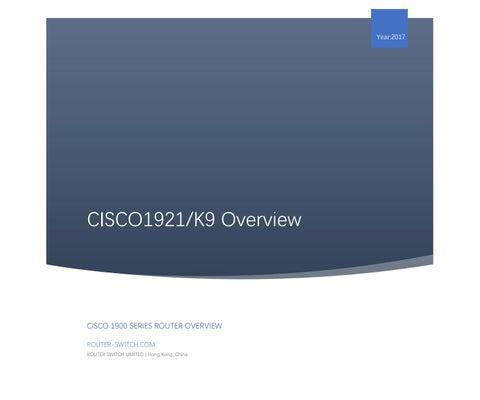 Overview (CISCO1921/k9) by Meela Zeng - issuu