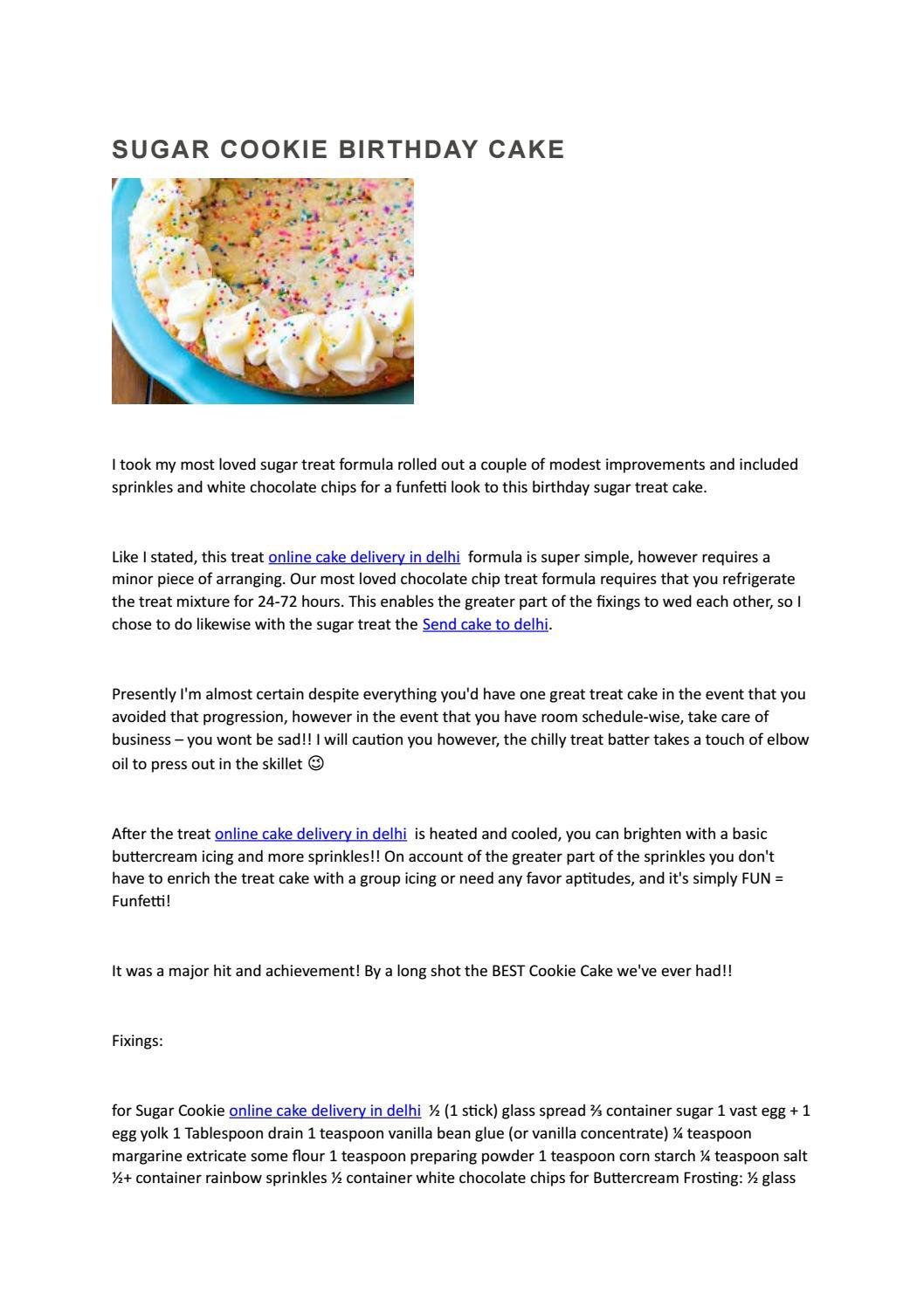 Prime Sugar Cookie Birthday Cake By Sweet Frost Issuu Personalised Birthday Cards Veneteletsinfo