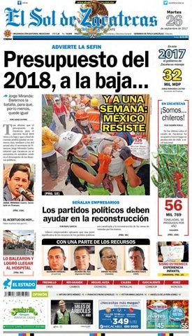 El Sol de Zacatecas 26 de septiembre 2017 by El Sol de Zacatecas - issuu 19eacadbd195b